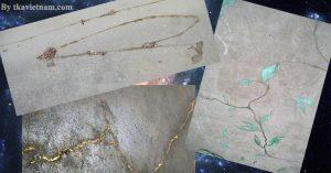 Trang trí vết nứt bê tông